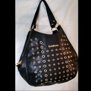 ☀️bebe Hobo Bag with Grommet Detail